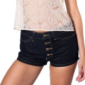 American Apparel Button Fly Jean Shorts